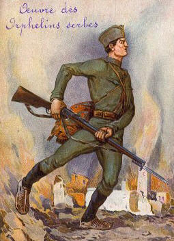 Serbian Soldier Poster WWI